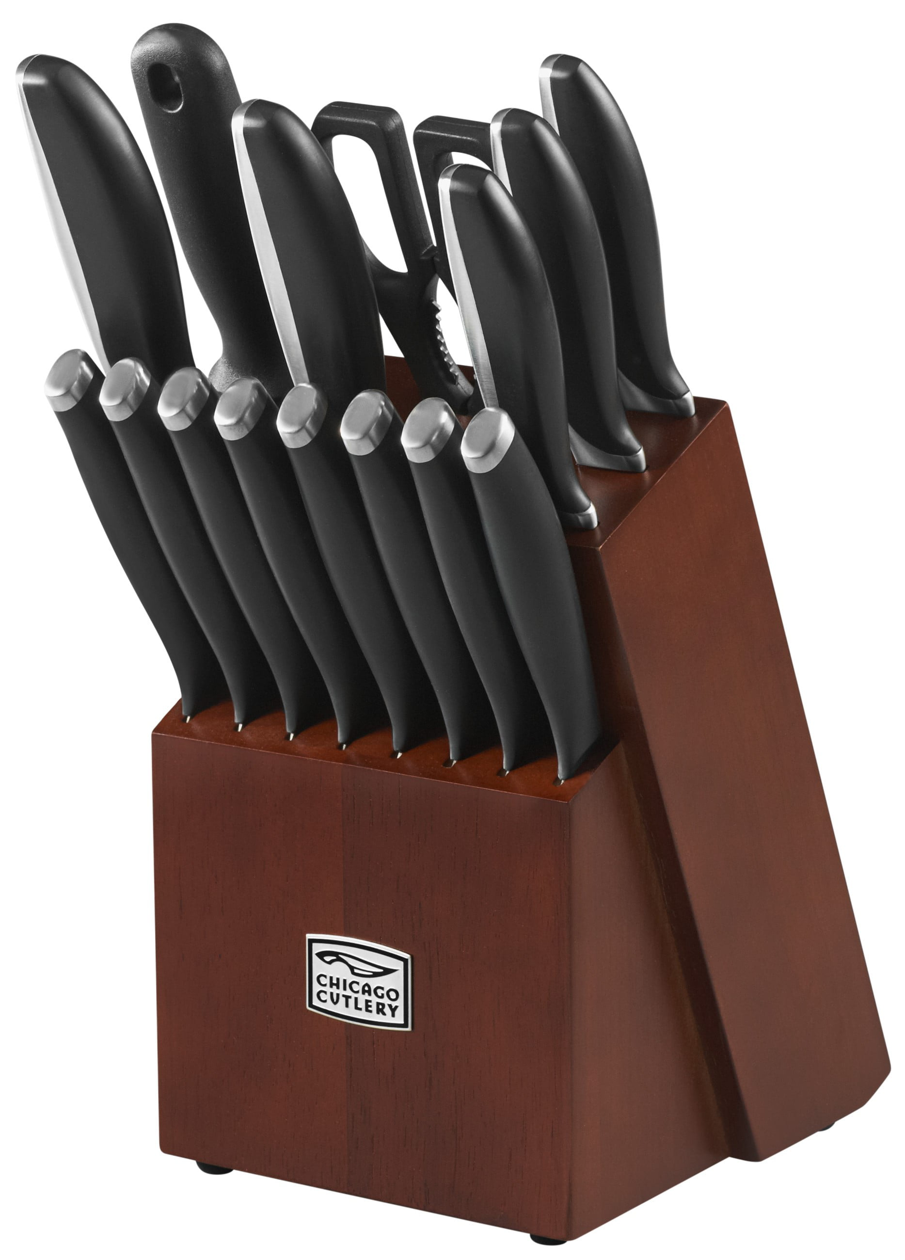 Click here to buy Chicago Cutlery Avondale Stainless Steel Knife Set (16 Pieces) by World Kitchen LLC.