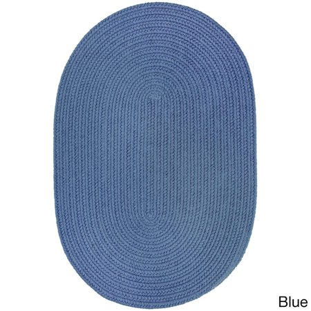 Rhody Rug Venice Indoor/ Outdoor Oval Rug by  (3' x (Logo Yellow Oval In Blue Rectangle)