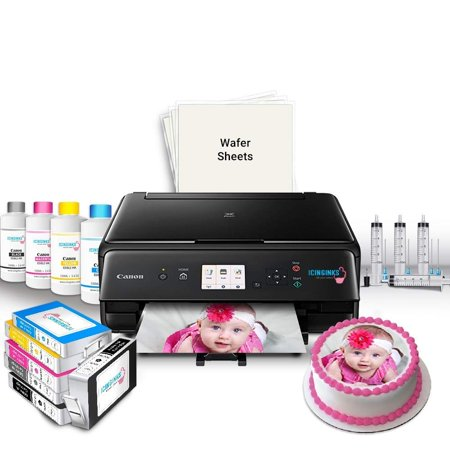 Icinginks Edible Printer Bundle for Canon – Includes Edible Printer for Cakes, Edible Ink Cartridges, Edible Wafer Papers, Edible Ink Refill and Kit – Edible Image Printer for Edible Photo Printing