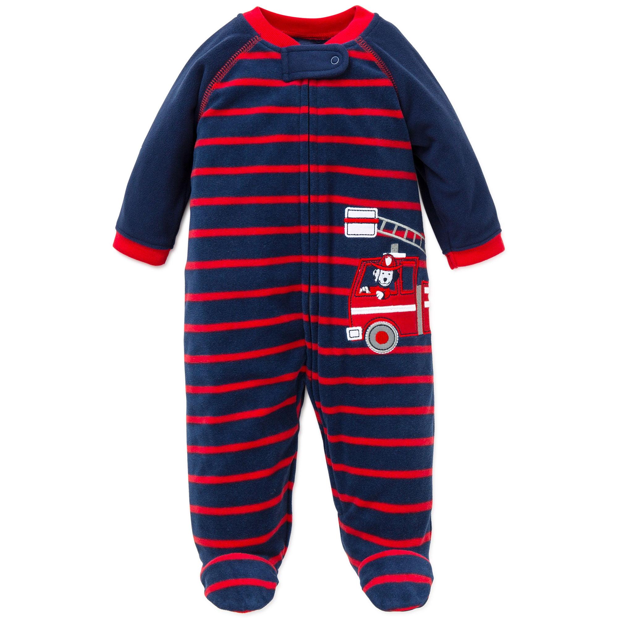 56c524c92 Little Me - Little Me Firetruck Warm Fleece Blanket Sleeper Footie ...