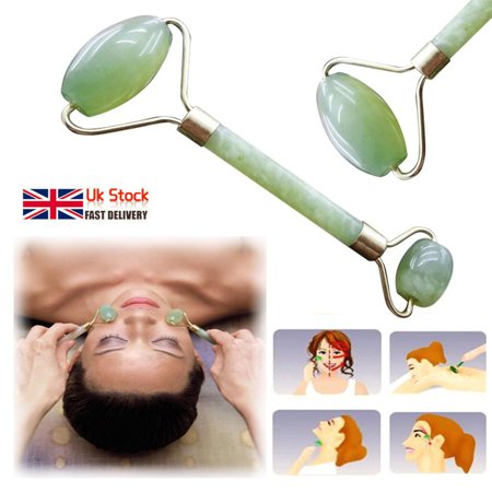 1 Pcs Facial Massage Roller Jade Face Body Eyes Head Neck Natural Beauty Device Tool