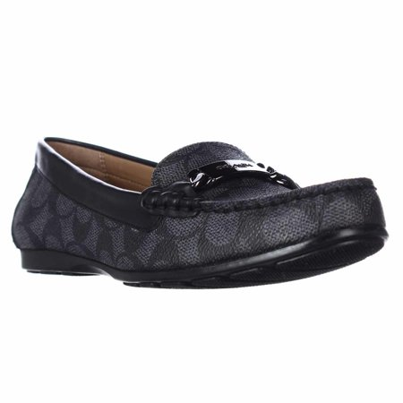 b80d01c1f7e Coach - Womens Coach Olive Slip-on Loafers - Black Smoke Black - Walmart.com