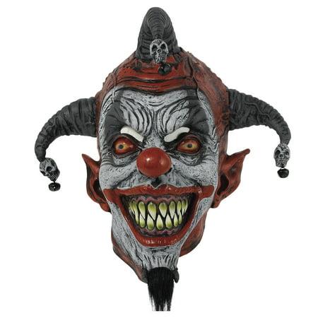 Killer Clown Mask (AMSCAN Evil Grin Killer Clown Halloween Mask for)