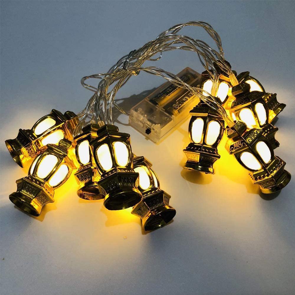 Islam Eid Mubarak Decoration Ramadan Lights 10 LED String Light For Muslim