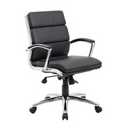 Boss Office Products CaressoftPlus Executive Mid-Back Chair