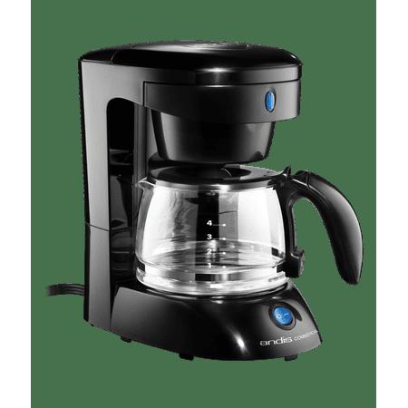 4-Cup Coffee Maker w/Auto Shut-Off - Black