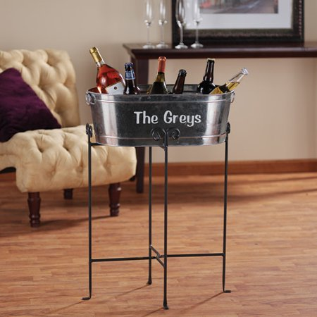Personalized Galvanized Beverage Tub And Stand Walmart Com