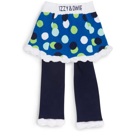 Izzy & Owie - White & Navy Polka Dot Skirted Baby - Navy And White Polka Dot Skirt
