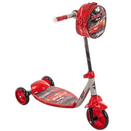 3 Piece Scooter - Disney Pixar Cars Lightning McQueen 3-Wheel Preschool Scooter, by huffy