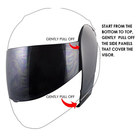 Hawk Tinted Smoke Replacement Shield for H66XX Modular Series Helmets