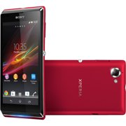 """Sony Mobile Sony Xperia L C2104 8 GB Smartphone, 4.3"""" LCD480 x 854, Android 4.1 Jelly Bean, 3.9G, Red"""