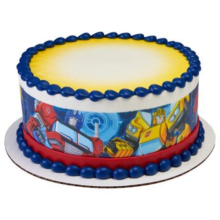 Transformers Edible Icing Image Cake Border (3 - Transformer Cakes