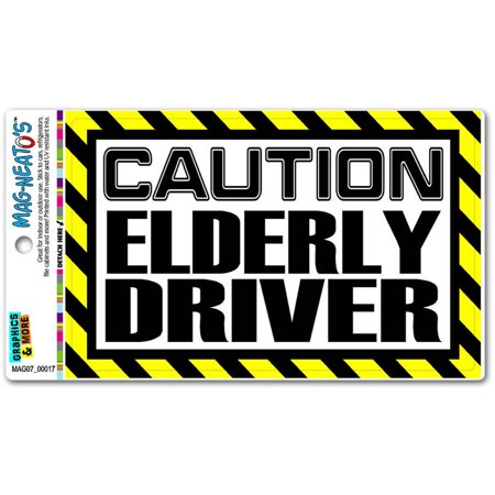 Caution Elderly Driver Automotive Car Refrigerator Locker Vinyl (Best Cars For Elderly Drivers)