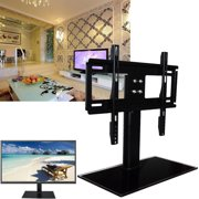 TV Stand Tabletop  Base Stand,Universal Replacement Bracket TV Stand Tabletop  Base Stand Mount Ajustable Sizes For TVs 26-55 inches