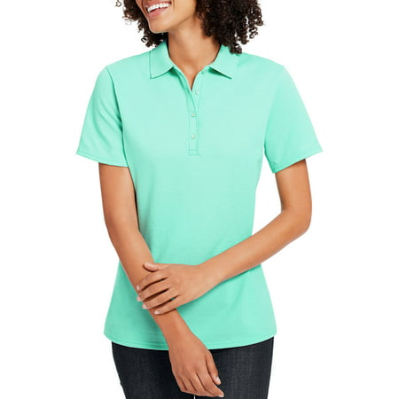 Women's X-Temp w/ Fresh IQ Short Sleeve Pique Polo Shirt - Navy Uniform Colors