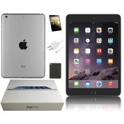 Refurbished Apple iPad Mini 2 - 7.9-inch Retina Display, 32GB, Space Gray, Wi-Fi Only, Comes With Bundle: Case, Tempered Glass, Charger