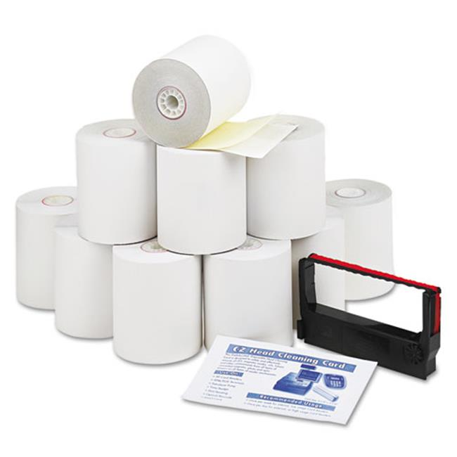 Pmc 09300 Impact Printing Carbonless Paper Rolls - 3 in. X 90 ft.