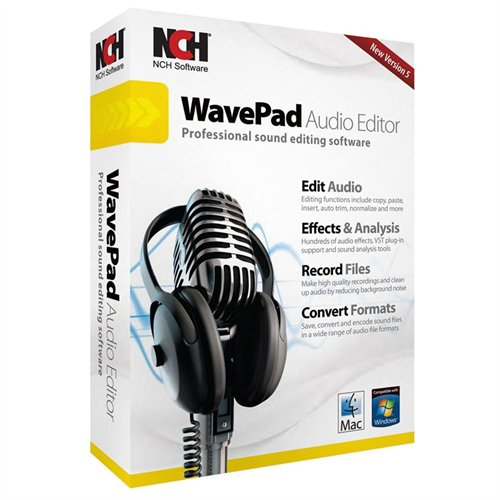 Nch Software RET-WP005 Wavepad Audio Editing Sw Recordcrom Edit Audio Files Add Effects