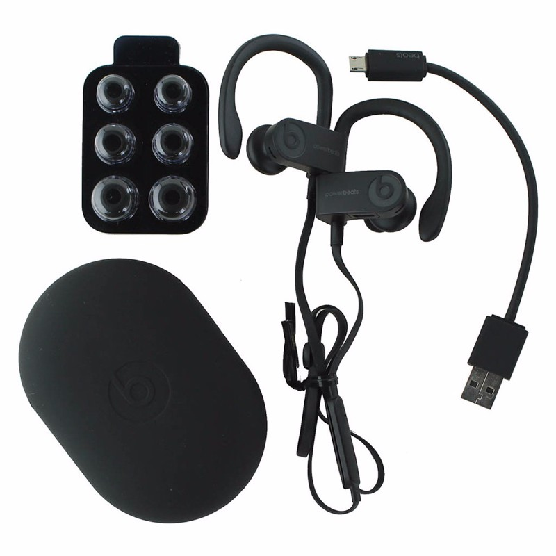 Beats Powerbeats3 Series Wireless Ear-Hook Headphones - Black (ML8V2LL/A) (Refurbished)