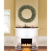 """Holiday Time Pre-Lit 48"""" Basic Artificial Christmas Wreath, Clear Lights"""