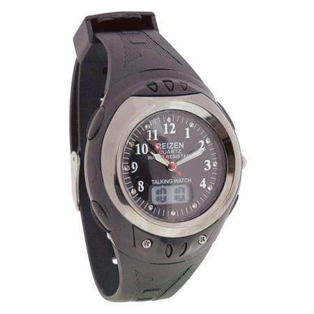 Analog Digital Watch (Digital Analog Water-Resistant Talking Watch-)