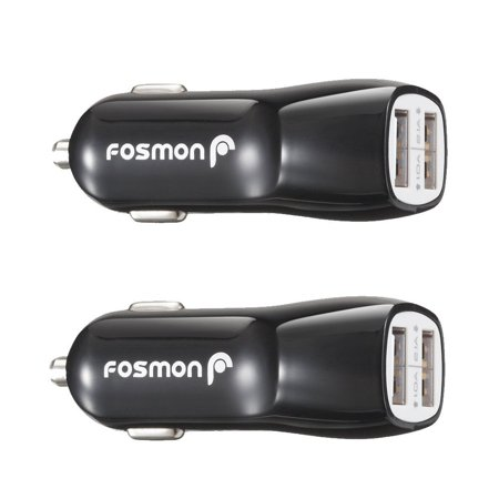Dual Port Usb Car Charger  2 Pack    2 1A   1 0A  Usb Car Charger For Apple Iphone X 8 Plus 8  Galaxy Note 8 S8 Plus  Moto G5 G5 Plus  Htc 10  Lg G6  Google Pixel Xl  Nokia 3 5 6  Black