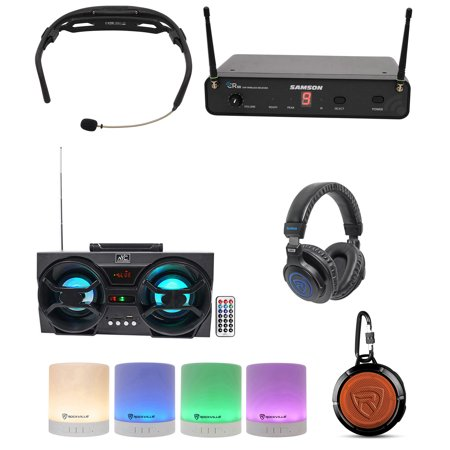 Samson Airline (Samson Airline 88 Headset Wireless UHF Microphone Fitness System 16-Ch+Speaker )