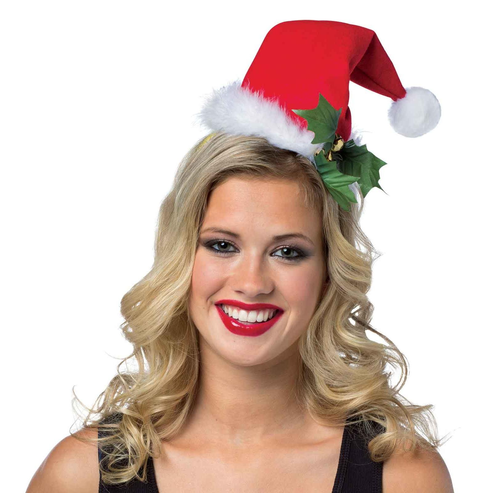 Christmas Headband For Adults.Santa Hat Headband For Women Halloween Accessory One Size