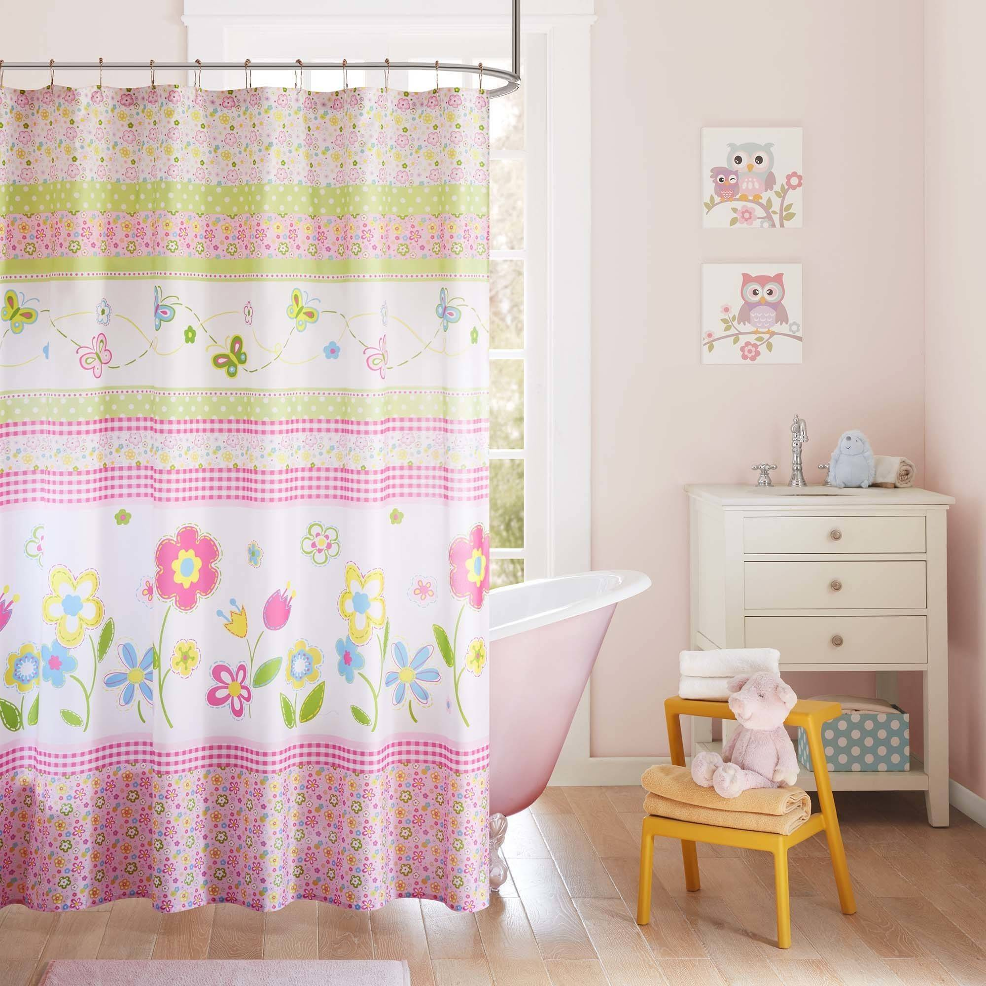 Home Essence Kids Blossoms Printed Shower Curtain