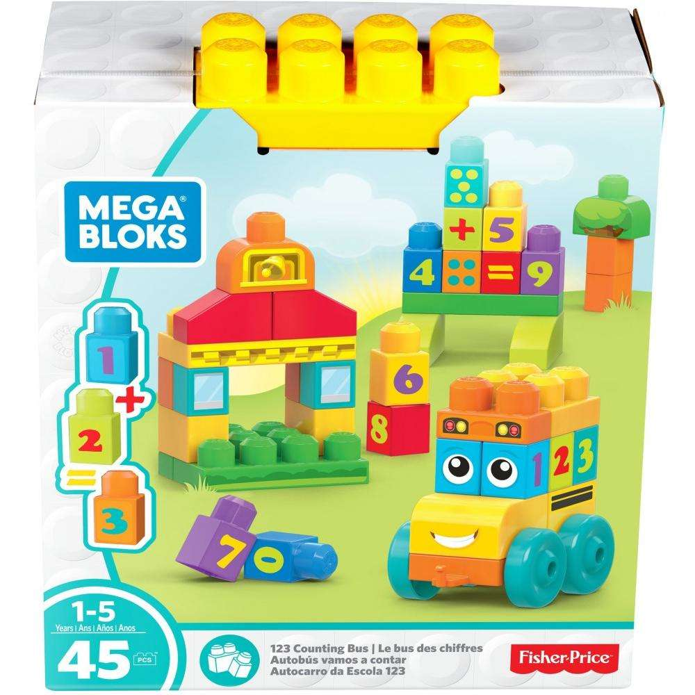 Mega Bloks Building Basics 123 Counting Bus by Mattel