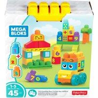 Mega Bloks Building Basics 1-2-3 Counting Bus, 45-Piece Set