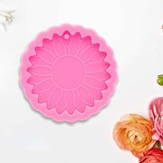 Qucyy Super Glossy Sun Flower Keychain Epoxy Resin Mold,Flexible,Reusable and Durable,Sun Flower Keychain Mould,Keyring Casting Silicone Mould,Crafts Jewelry Pendant Making Tools - image 5 of 5
