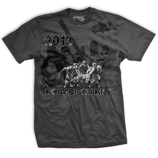 Ranger Up Mogadishu Mile T-Shirt - Gray