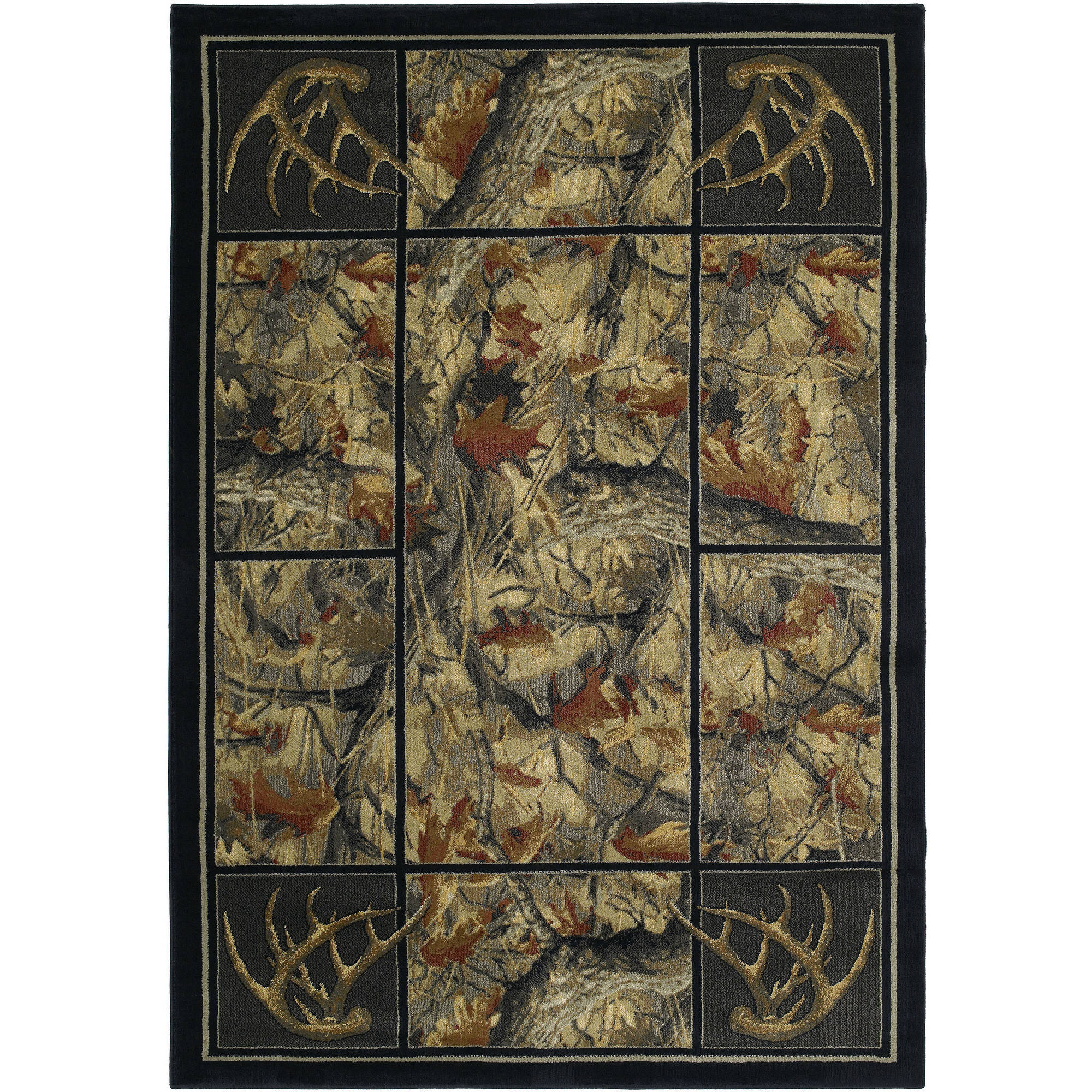 United Weavers Big Timber Camouflage Multi Woven Polypropylene Area Rug or Runner