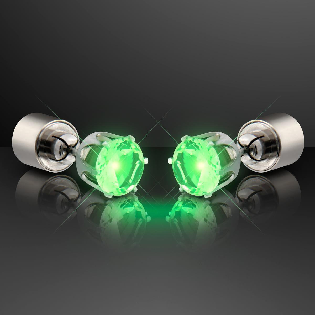 Light Up Earring LED Blinking Bulb Ear Hook Dangle Women Earring Jewelry Gift YU