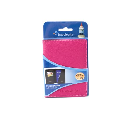 VF Travelocity Passport Holder Wallet with Card Slots Pink