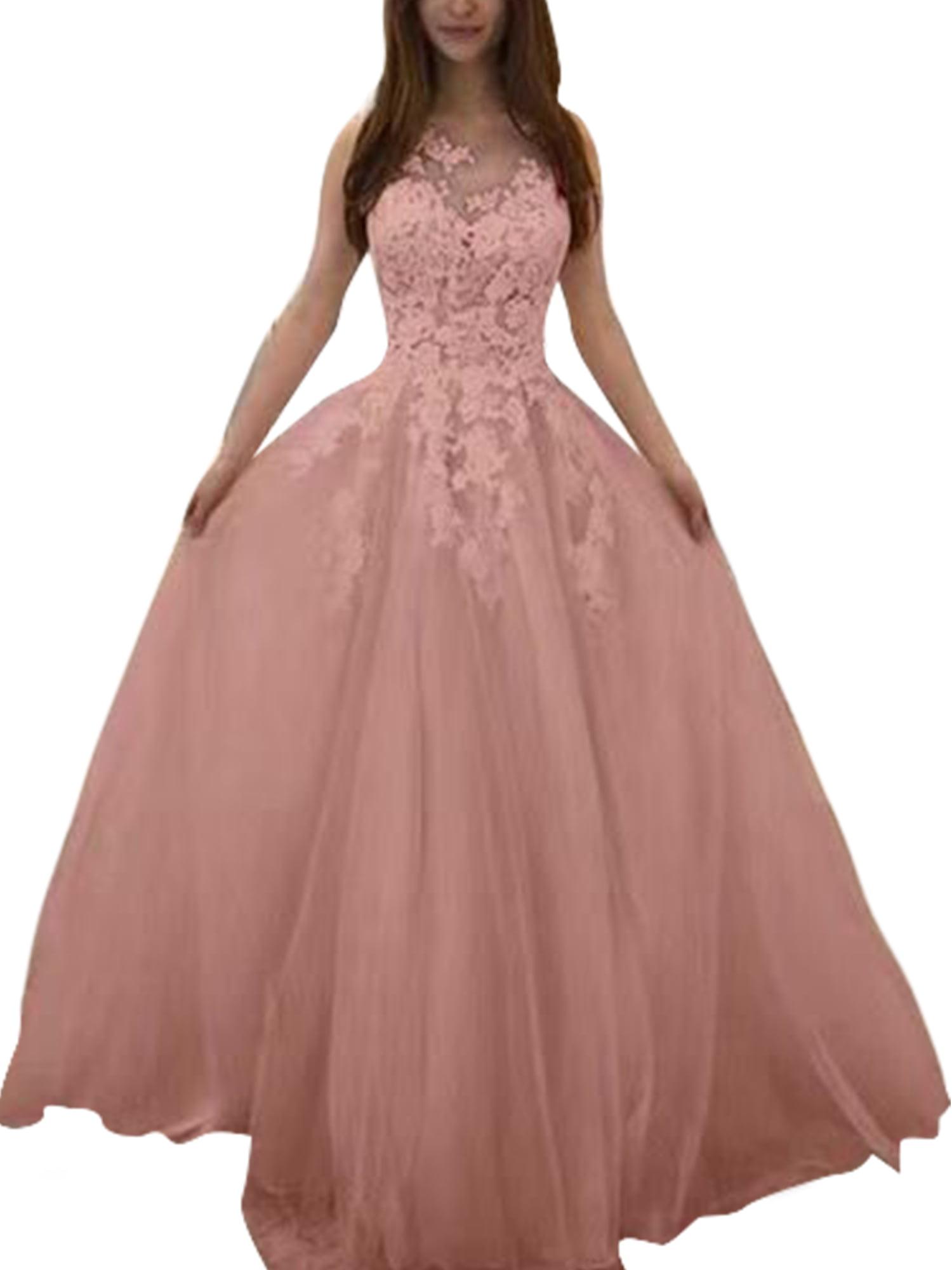 Pink dress Pink Lace Long Bridesmaid dress Wedding Dress Long Prom dress Party dress Cocktail dress Maxi dress Evening Gown