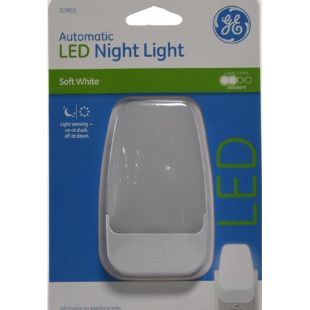 Ge Automatic Led Night Light Contemporary White 30965