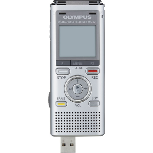 Olympus WS-821 Voice Recorders with 2GB Built In Memory Silver
