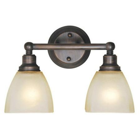 - Craftmade Bradley 26602 2 Light Bathroom Vanity Light
