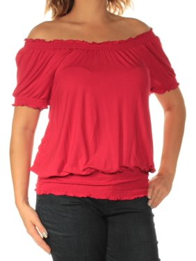 1768e977d2162 Product Image INC Womens Red Short Sleeve Off Shoulder Top Size  S