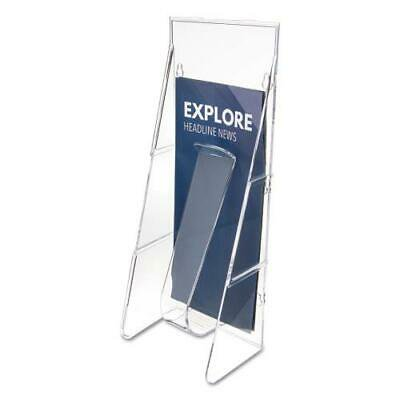 Leaflet Stand - Stand-Tall Wall-Mount Literature Rack, Leaflet, 4 9/16 x 2 3/4 x 11 3/4, Clear