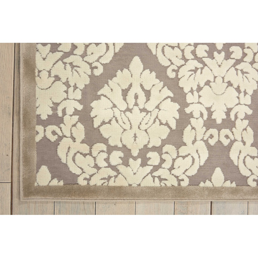 "Nourison 7'9"" x 10'10"" Ultima Silver Ivory Rectangle Area Rug by Nourison"