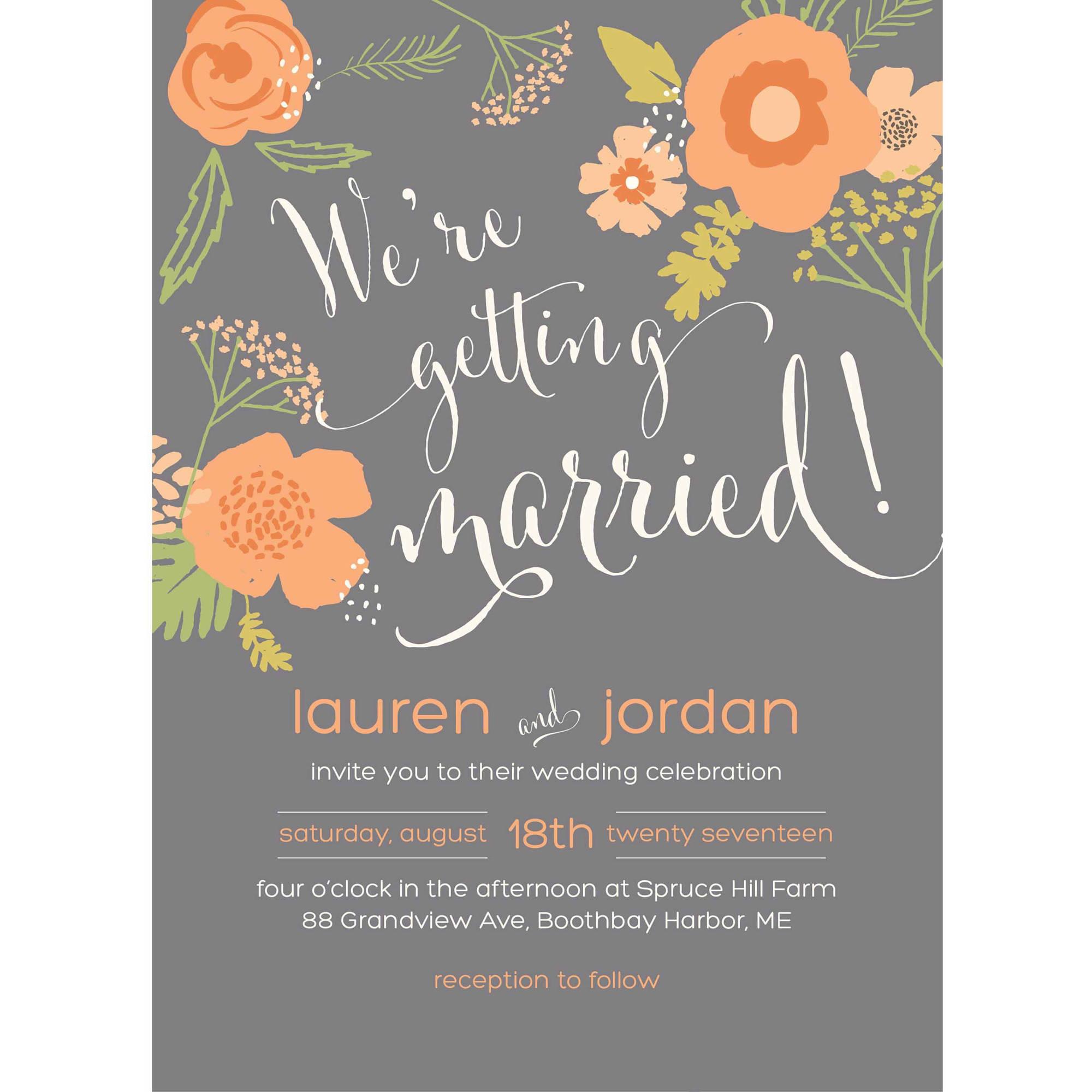Getting Married Standard Wedding Invitation