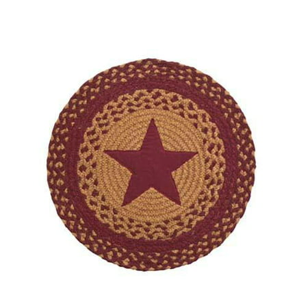 Star Wine Braided Tablemat, 15in. - Set of 2 American Classic Wine Set