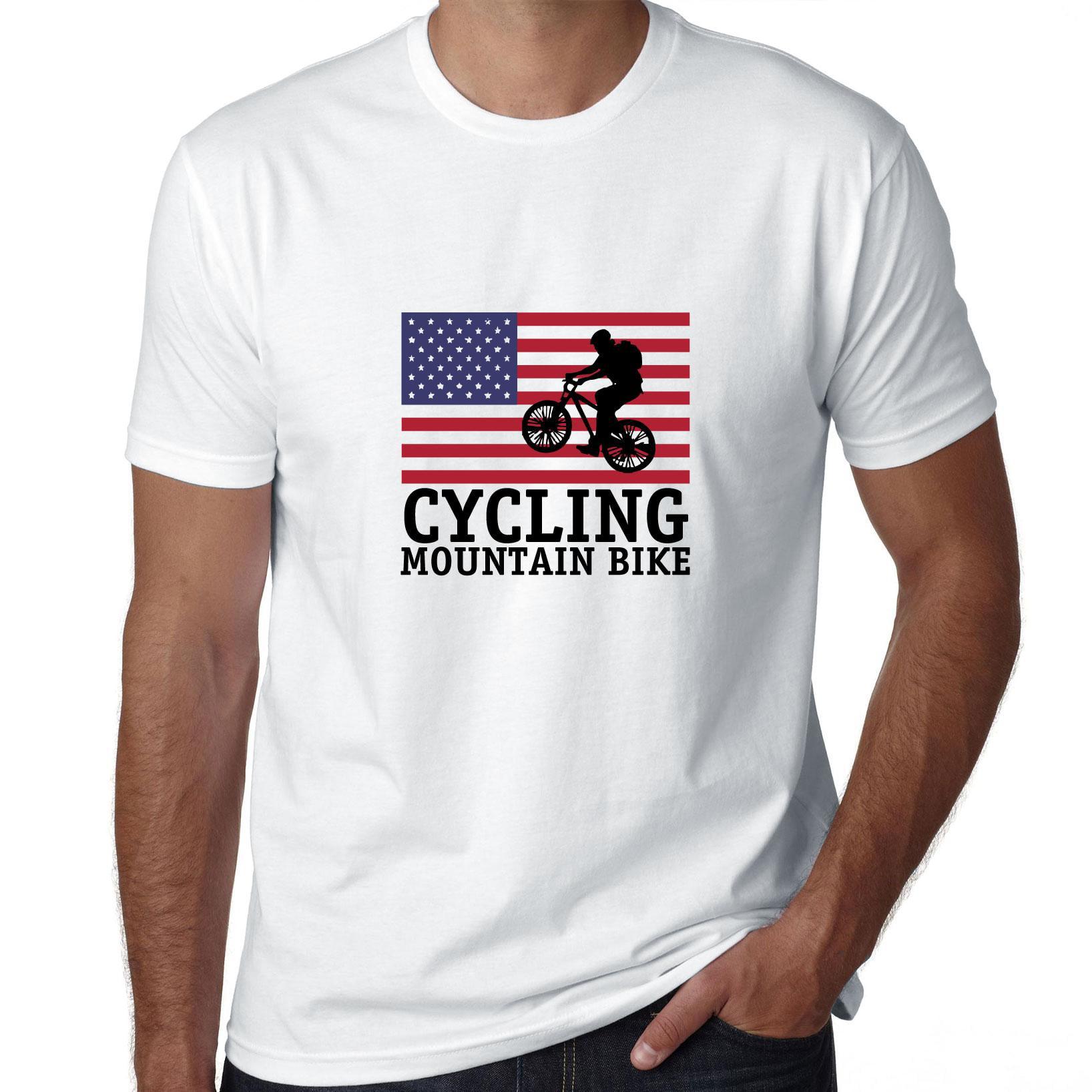 Hanes Tagless Tee T-Shirt Ride Mtb Mountain Biking