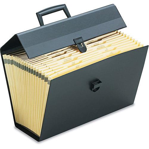 Pendaflex Portafile Expanding Organizer with 19 Pockets, Letter, Black