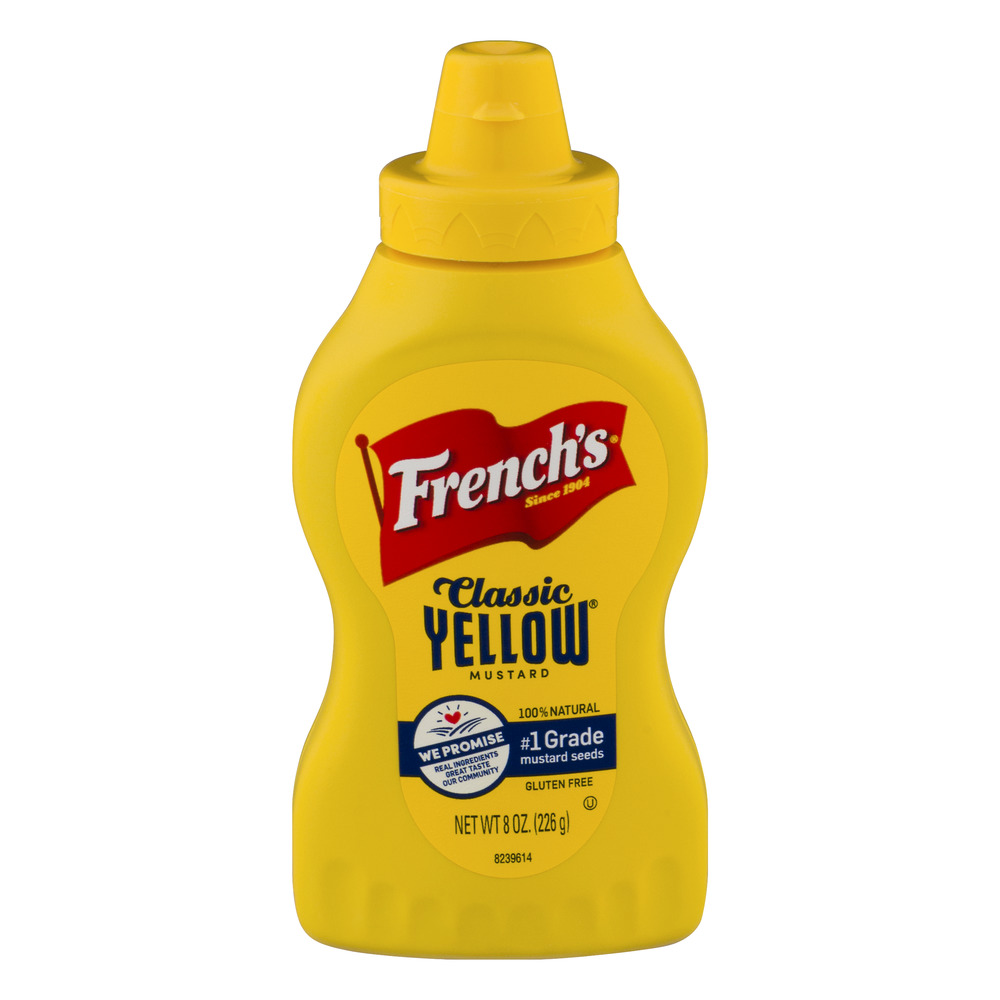 French's Classic Yellow Mustard, 8 oz by The French's Food Company LLC