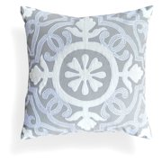 A1 Home Collections Laverna Grey Floral Pillow
