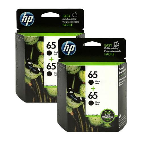 HP 65 Black Ink Cartridge 2Pack (2-Pack) Ink Cartridge ...